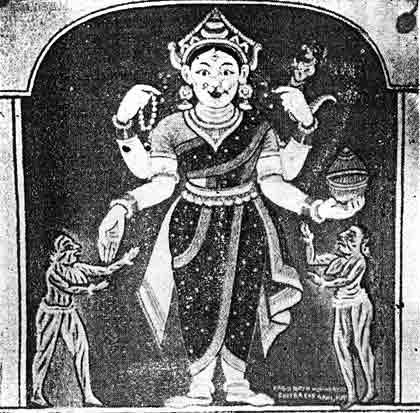 Goddess awakening in Sri Mandir, invitation of thousand vessel of water, mula-Astami, Dwitiya osa and worship of Goddess Durga for long Sixteen days